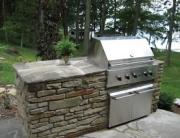 Stone veneer grill
