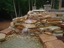greenscape fountain wall