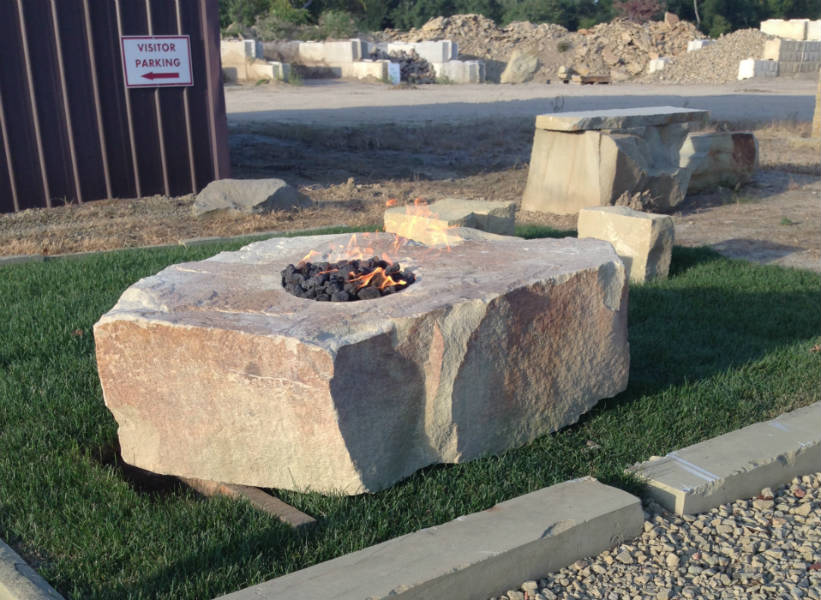 Outdoor Natural Stone : Natural stone fire pits pit