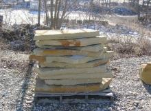 Flagstone Slabs on palletNapoleon Stonewww.napoleonstone.comTel: 517-536-4330