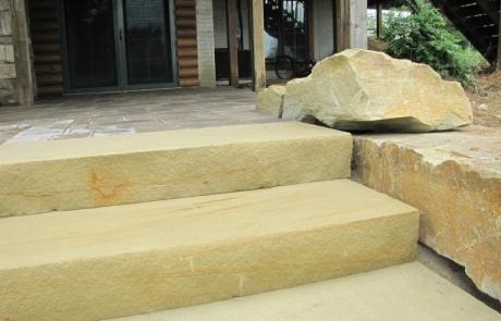 Sawn stone steps