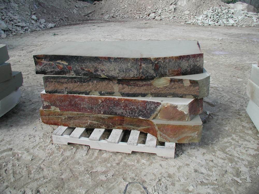 Natural Stone Slabs : Sawn natural stone slabs dimensional