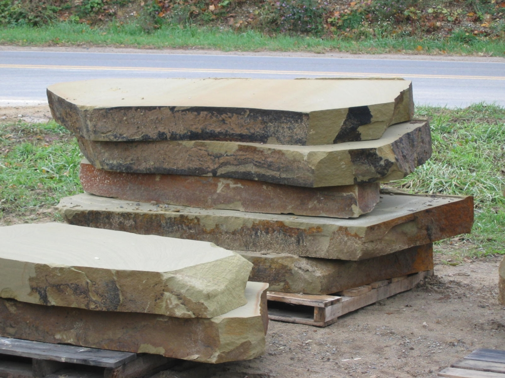 Natural stone steps stone steps step treads sawn for Pictures of stone steps