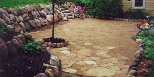 Natural Flagstone Patio