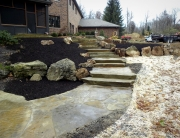 Stone sawn slabs