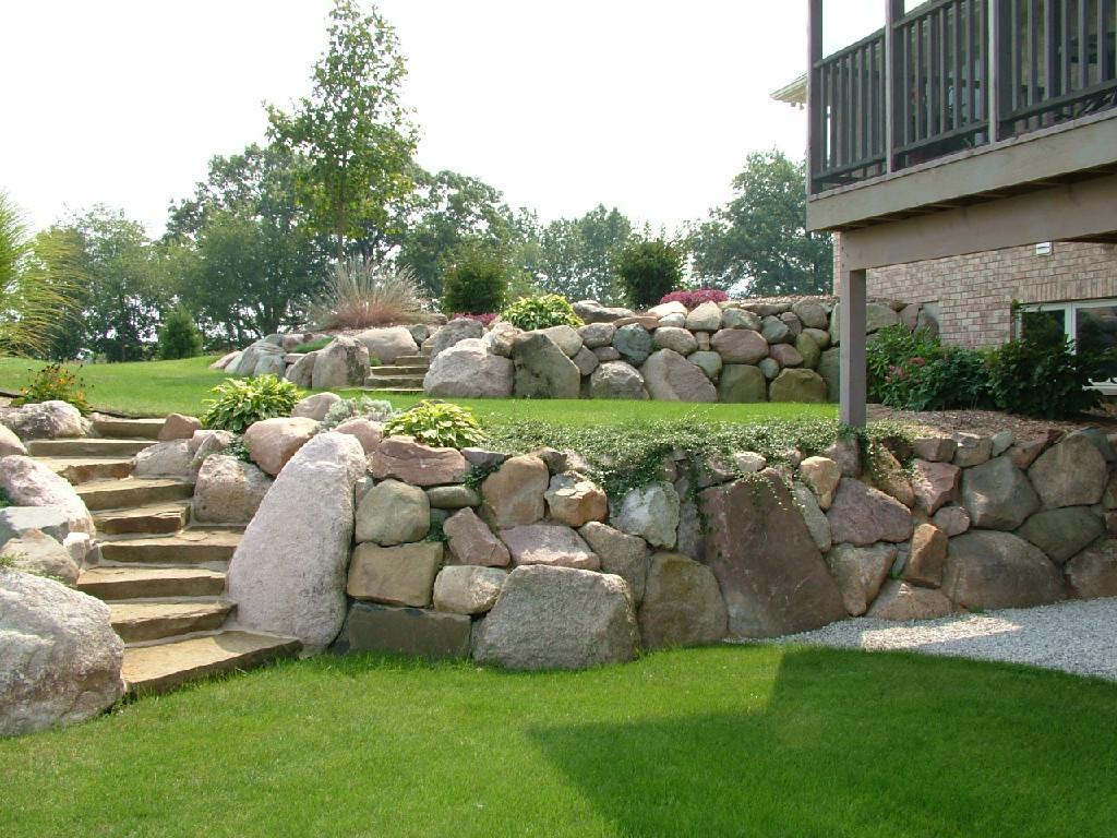 Natural Stone Steps Landscape Steps
