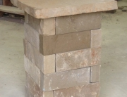 Stone pillar and cap