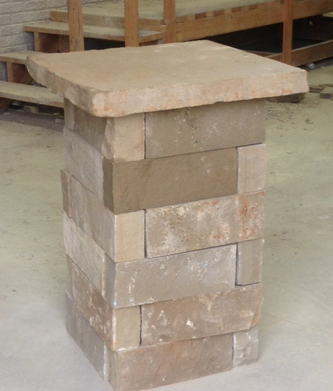 Natural Stone Pillars Caps : Landscaping stone ideas patio flagstone