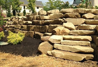 Stackable Stone Boulder wall