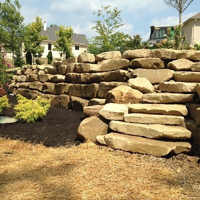 Cost Of Boulders For Retaining Wall - Photos Wall and Door ...