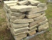 Tumbled Stone Retaining Wall