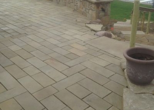 Sawn wallstone used for pavers