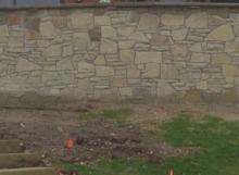 Webwall and split face stone veneer