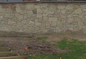 Webwall and split face stone veneer