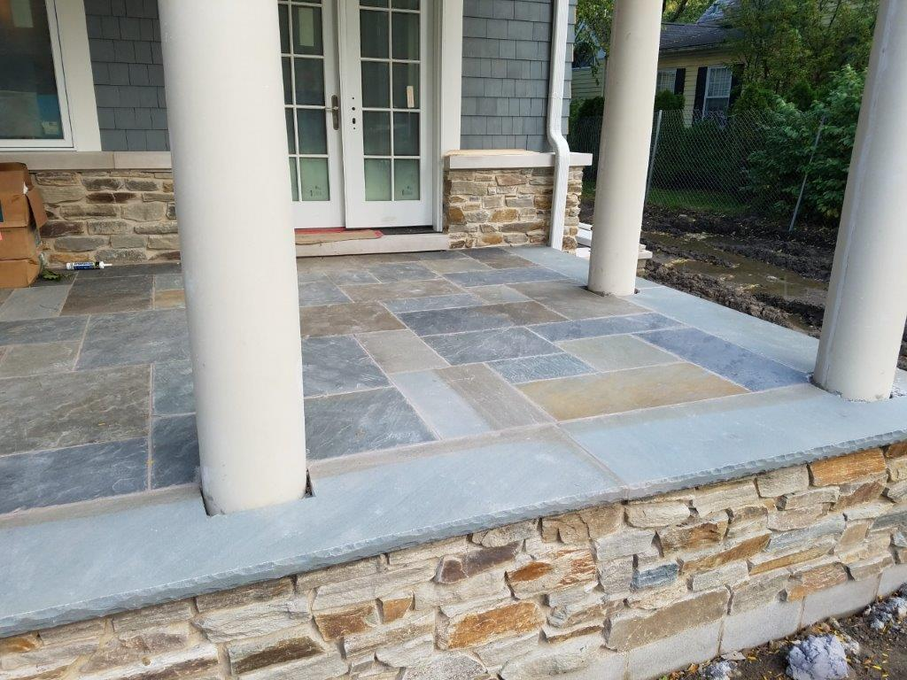 Bluestone patio patio stone flagstone patio michigan for Bluestone porch