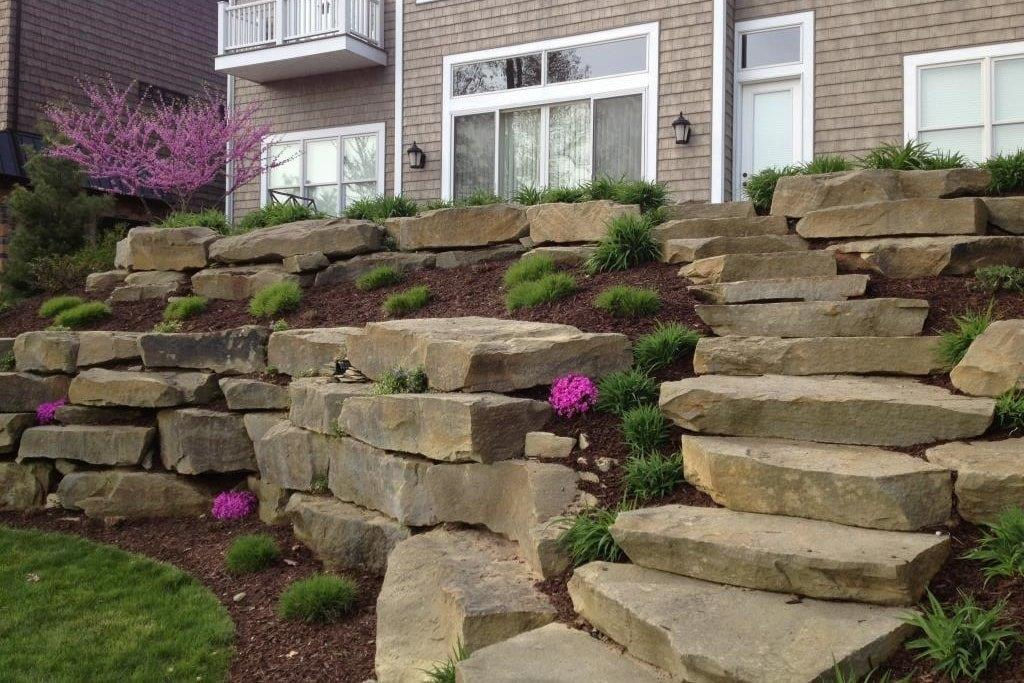 Natural Stone Steps : Natural stone steps landscaping treads