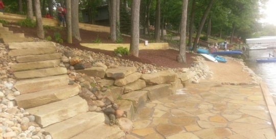 Sawn Stone Steps And Patio Stone