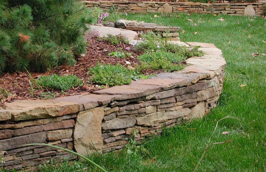 Stone Walls Retaining Walls Stone Wall Ideas Michigan