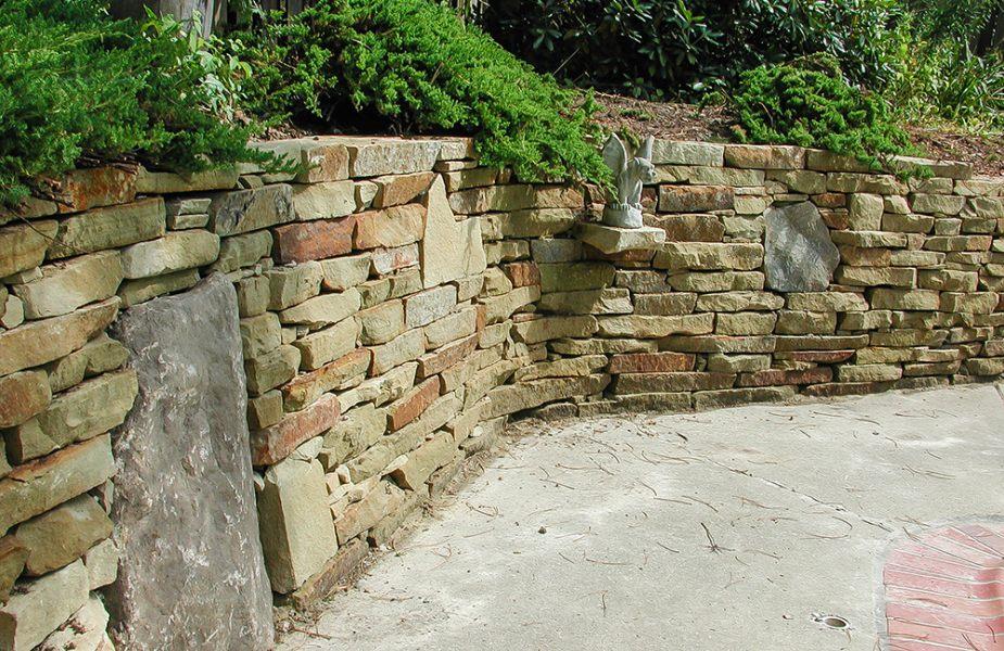 Landscaping Ideas   Backyard Patio  Stone Project ... on Patio Stone Wall Ideas id=26094