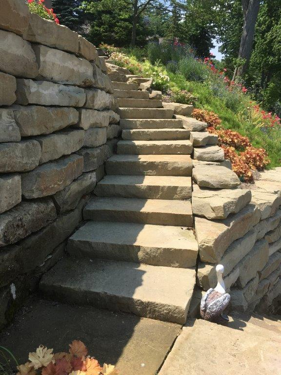 Natural Stone Steps Landscaping Steps Stone Treads Step Treads